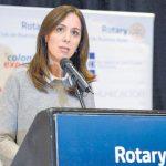 En un reducto capitalista como el Rotary, María Vidal dijo que las Universidades Públicas son un gasto porque ningún pobre llega a la universidad.