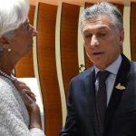 Christine Lagarde (FMI) y Mauricio Macri (CAMBIEMOS).